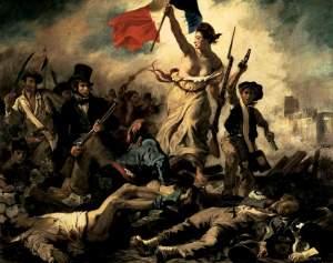 Liberty Leading teh People, 1830, Eugène Delacroix.