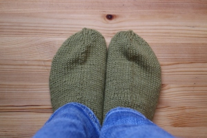 Homemade socks - from my extra grandma <3