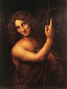 St. John The Baptist by Leonardo Da Vinci. The Louvre, Paris.