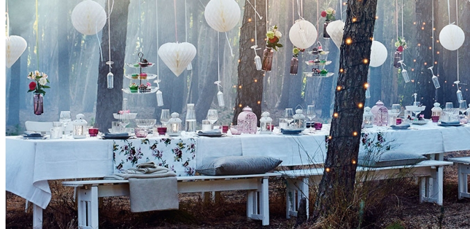 Garden wedding-dreams.  Photo borrowed from Ikea's website.