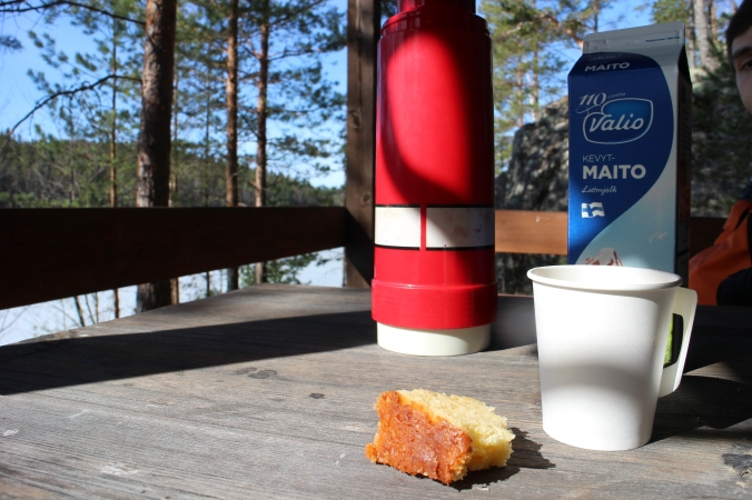 Homemade pineapple cake, sunshine and  coffee on the porch. Bliss!