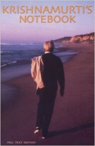 Cover from Krishnamurti's Notebook.